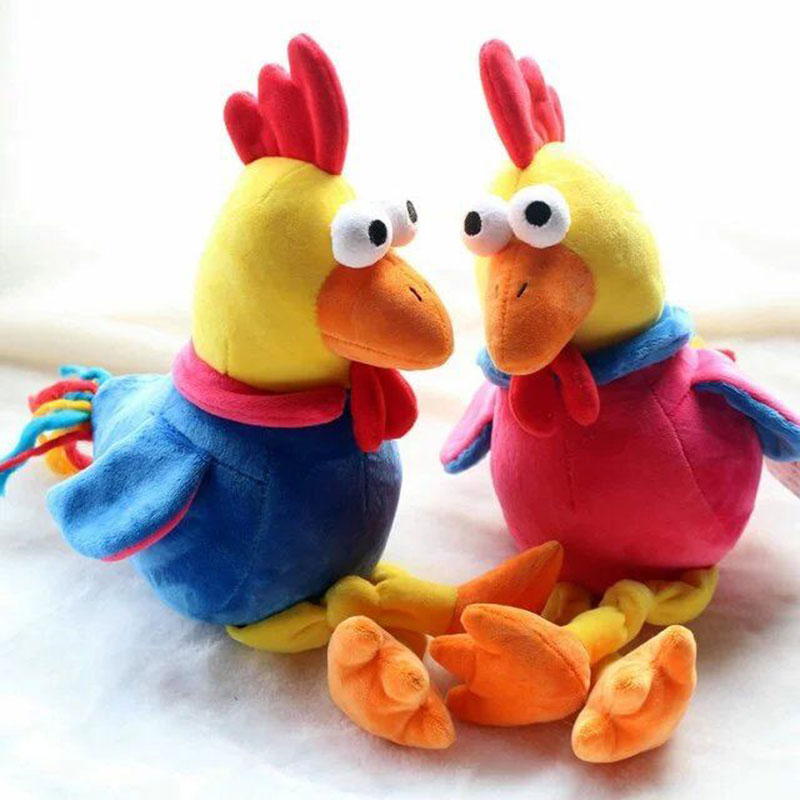 2017 New Year Mascot Good Luck Rooster Stuffed Animals Dolls Plush Chicken Colorful Cock Toys for Children Kids Gifts