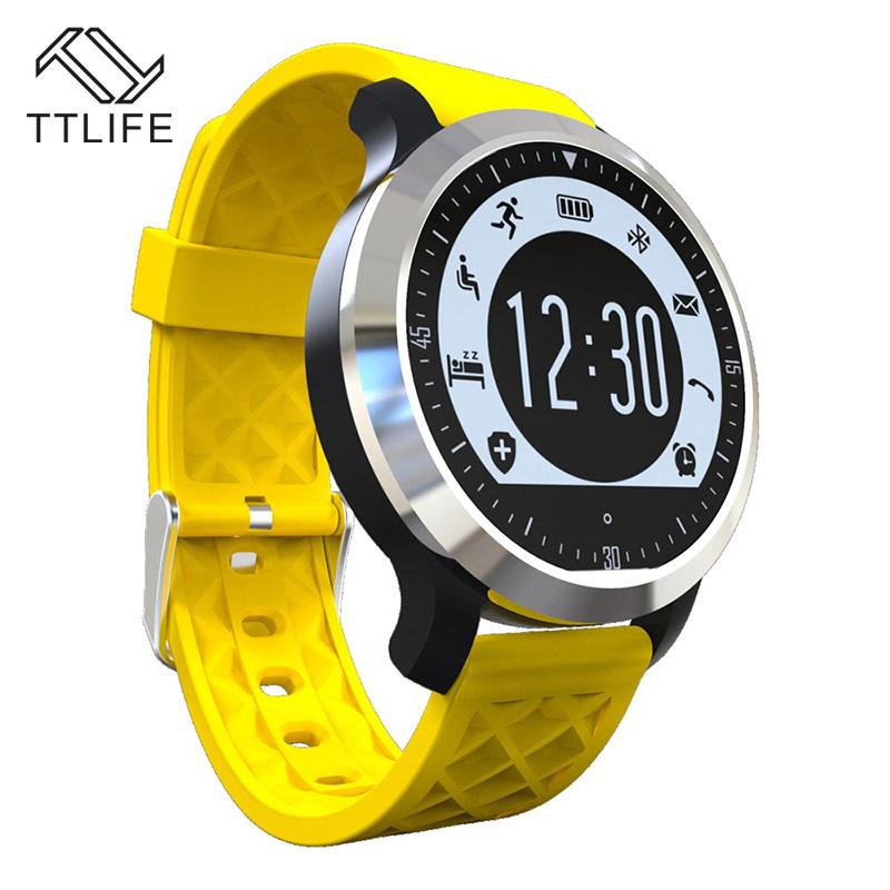 Prix pour 2016 TTLIFE Marque Horloge Smartwatch sport montre Étanche IP 68 Bluetooth Montres Intelligentes pour iPhone apple IOS Android Smartphone