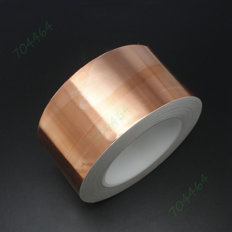60mm x 50M(164 feet) EMI Shielding Single Conductive Adhesive Slug snail barrier Copper Foil Tape