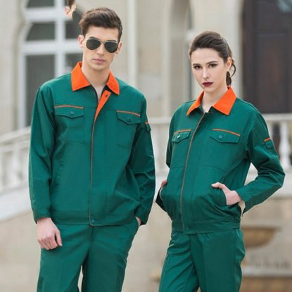 Set of Coat+Pants long sleeve garden uniform road cleaning uniform auto service coat men out of uniform