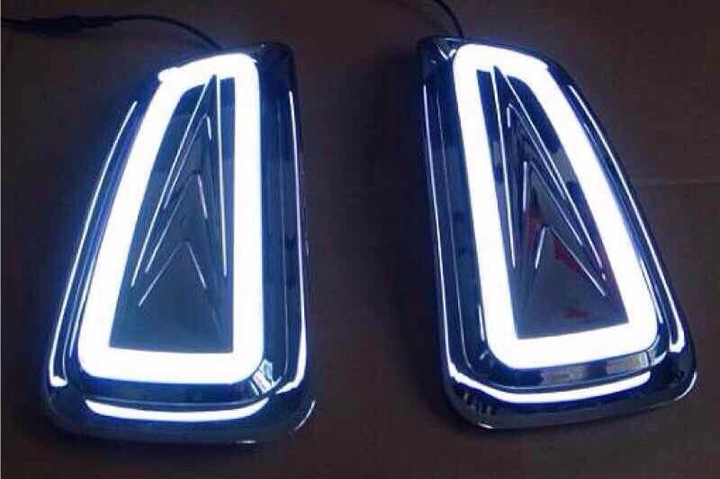 Новое прибытие СИД DRL дневного света светильника тумана для Ford f150 исполнена Раптор Ф-150 2010-14 световодную, желтый функция поворота света