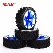 MPNWB+PP0487 1:10 Scale Rubber Tires and Wheel Rims with 6mm Offset fit 1/10 RC Off Road Car Model Toys Accessories