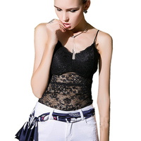 2017 Bustier Corset Crop Top Lace Camisoles Tanks Fitness Summer Women Cropped Cami Tops Strappy Bra