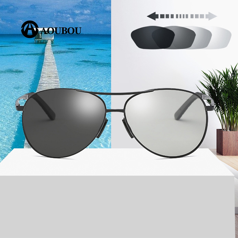 00b3d1c548 Discoloration Polarized UV protection Photoreceptor Night vision sun glasses  for men oculos feminino occhiali da sole