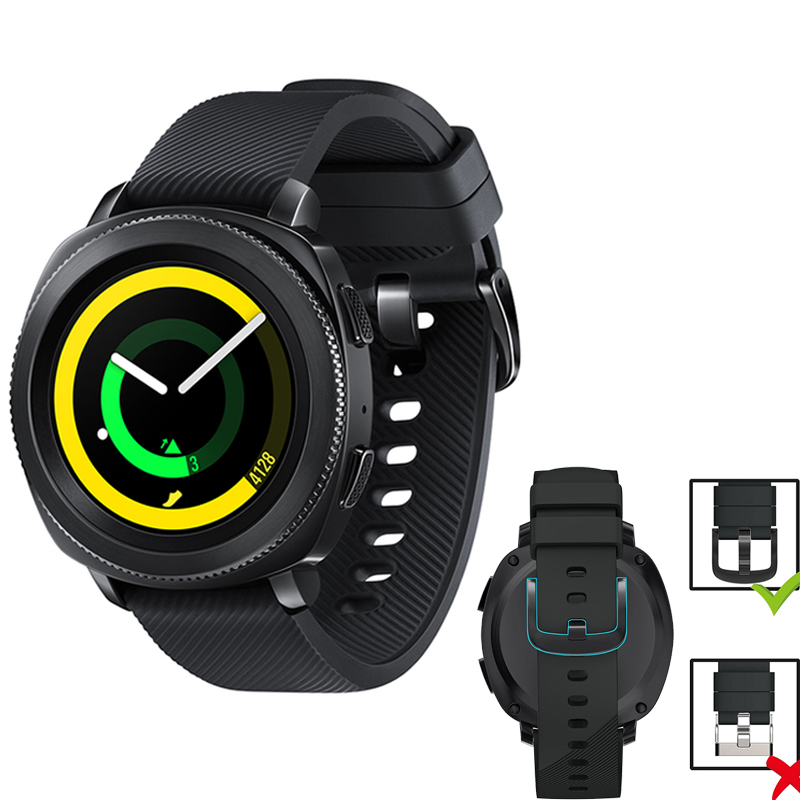 20mm silicone band for Samsung gear sport strap wrist bracelet for SAMSUNG GEAR S2 classic smart watch with metal buckle crested sport silicone strap for samsung gear s3 replacement bracelet rubber band for samsung gear s3 watch band