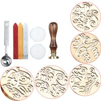 Personalized Classic Seal Stamp Sticks Spoon Set DIY Decoration Wax Sealing 6 Styles BS