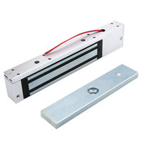 280KG 600LB Single Door 12V Electric Lock For Door Magnetic Electromagnetic Lock Holding Force For Access Control with LED Light