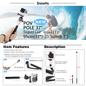 Image 5 - SnowHu for Gopro 7 Accessories Set Waterproof Housing Protection case Tripod Monopod for Gopro hero 7 6 5 Sport Camera GS73