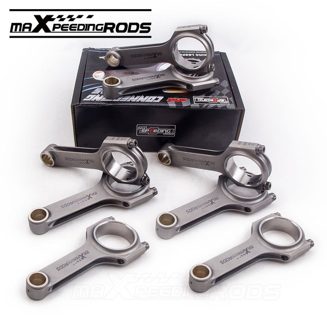 US $620 05 |H Beam Connecting Rods Rod For BMW M60 M60B40 4 0L M62 4 4L  143mm Pin ARP Bolts Conrod rods 800hp 4340 Forged Balanced Warranty on