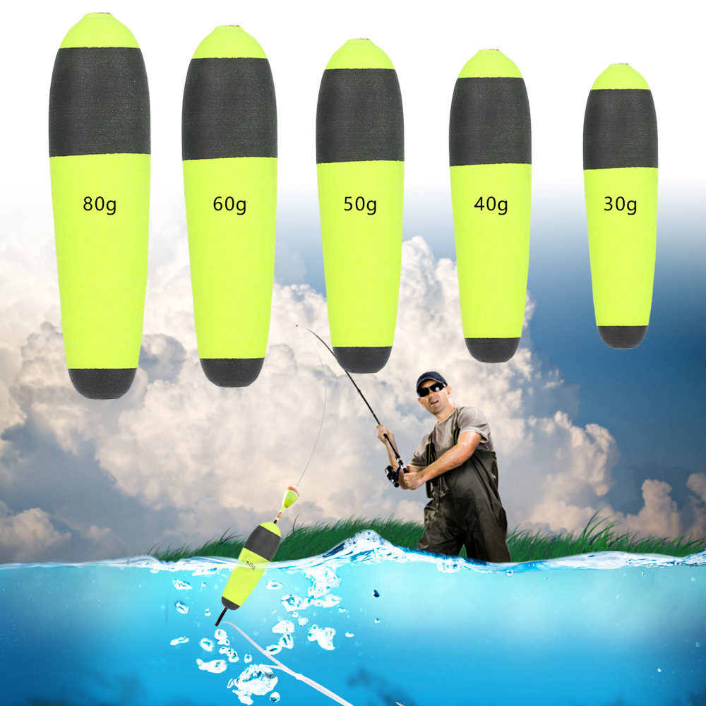 1 PC Portable Buoyancy Eva Foam Fishing Float Led Inline Bobbers Floating Cat Fish Pike Flotadores Camping Fishing Equipment(China)