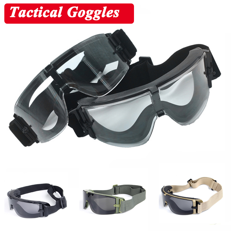 Hot Sale Airsoft Paintball Tactical Goggles X800 Outdoor Sport Military Army Shooting Sunglasses 3 Lens Windproof Eyewear