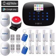 Bezprzewodowy Ekran Dotykowy TFT LCD GSM Alarm System Automatycznego Wybierania Numeru Domu Dom Biuro Włamania i napadu Bezpieczeństwa Straży + RFID