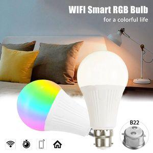 B22 7W RGBW WiFi APP Controlle