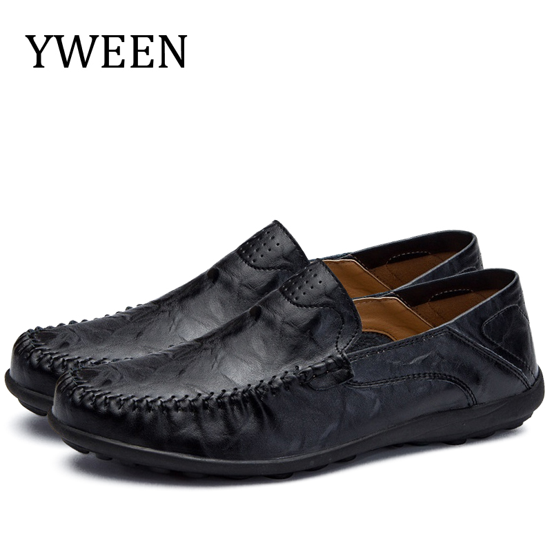 YWEEN Spring New Men Loafer Shoes Splite Leather Soft Moccasins High Quality Driving Flats
