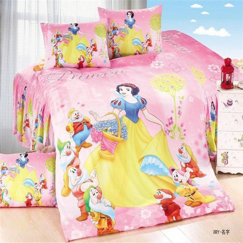 Show White Princess bedding set twin size bed sheets for kids bedroom decor Girls quilt duvet cover 3-4 pcs 3d printed Children image