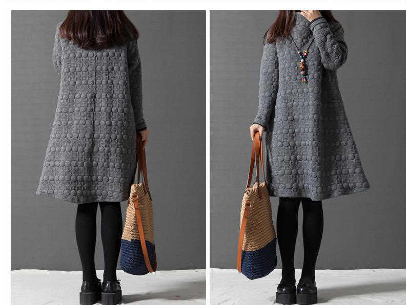7f072dffc56 ... 2018 New Turtleneck Loose Maternity Dresses Fall Winter Maternity  Clothes Thick Pregnant Women Lactation Plus Size ...