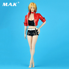 1/6 sexy red Womens Short Leather jacket Hot Pants Suit set For 12 Female PH Doll Action Figure Body Accessories