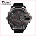 Brand Oulm HP3790 Man Watch Quartz Sports Men Leather Strap Watches  Male Wristwatch