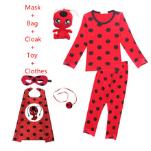 Ladybug Girls Costumes Christmas Clothing For Girls Kids Ladybug Marinette Cosplay Girl Dress Clothes girls dresses miraculous ladybug kids red flash dress for girl cosplay costumes ladybug marinette bobo choses children dot dress