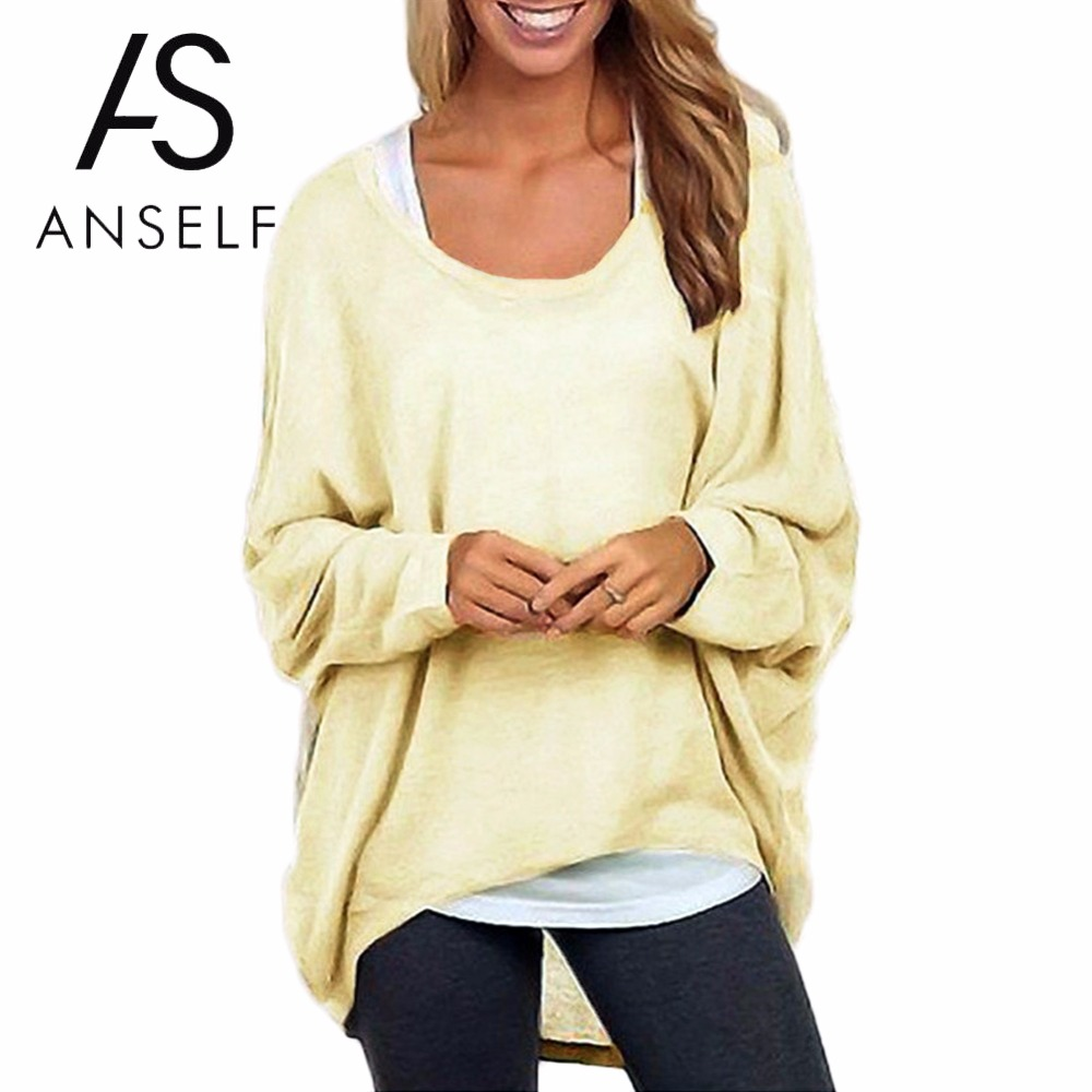 5dce0b8f9d0 2019 Autumn Plus Size 3XL 4XL 5XL Women T Shirt Batwing Long Sleeve tshirt  Irregular Hem
