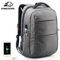 Kingsons charge externe USB fonction école sac à dos antivol garçon fille Dayback femmes sac de voyage 15.6 pouces