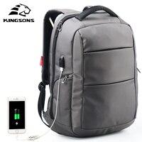 Kingsons شحن خارجي USB وظيفة حقيبة المدرسة مكافحة سرقة الصبي الفتاة Dayback النساء السفر حقيبة 15.6 بوصة