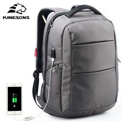 Kingsons de carga externa con función USB mochila escolar antirrobo para niños y niñas bolsa de viaje para mujeres de 15,6 pulgadas