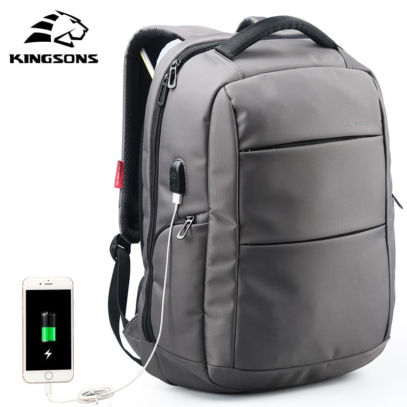Mochila escolar con función USB de carga externa Kingsons, mochila de viaje para mujer, para niña, para niño, con antirrobo, 15,6 pulgadas-in Carteras escolares from Maletas y bolsas    1