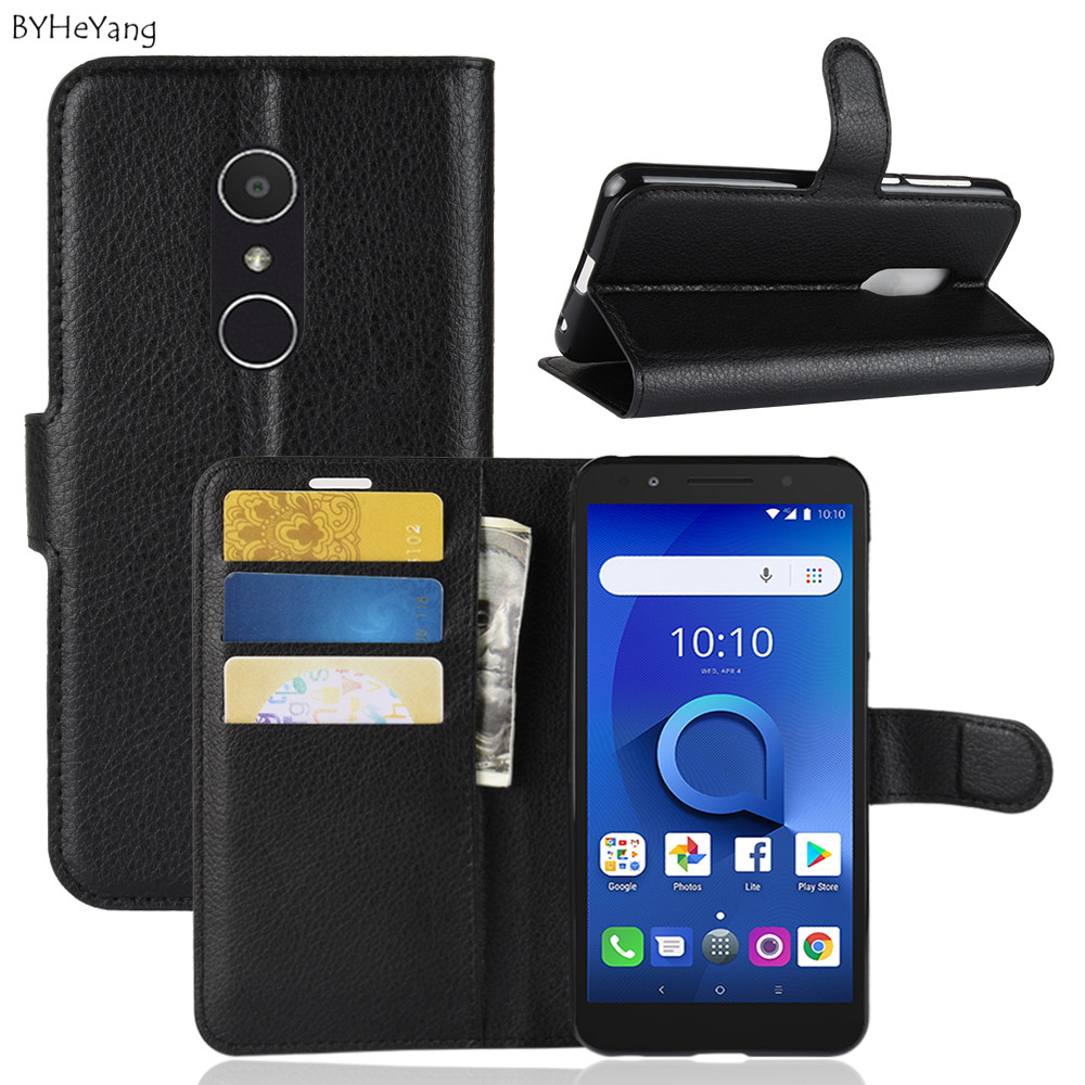 BYHeYang For Alcatel 1X Case 1X Flip Luxury Wallet PU Leather Phone Case For Alcatel 1X 5059D 5059 5059A 1 X Case Back Cover