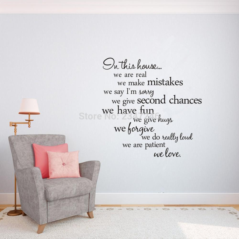 online buy wholesale wall decals family quotes from china wall in this house quotes wall decal family rules removable vinyl stickers for home decor china