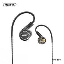 Remax triplo movente unidades de unidade bobina redução ruído alta fidelidade fone de ouvido com microfone 3.5mm aux para o telefone xiaomi fone de ouvido