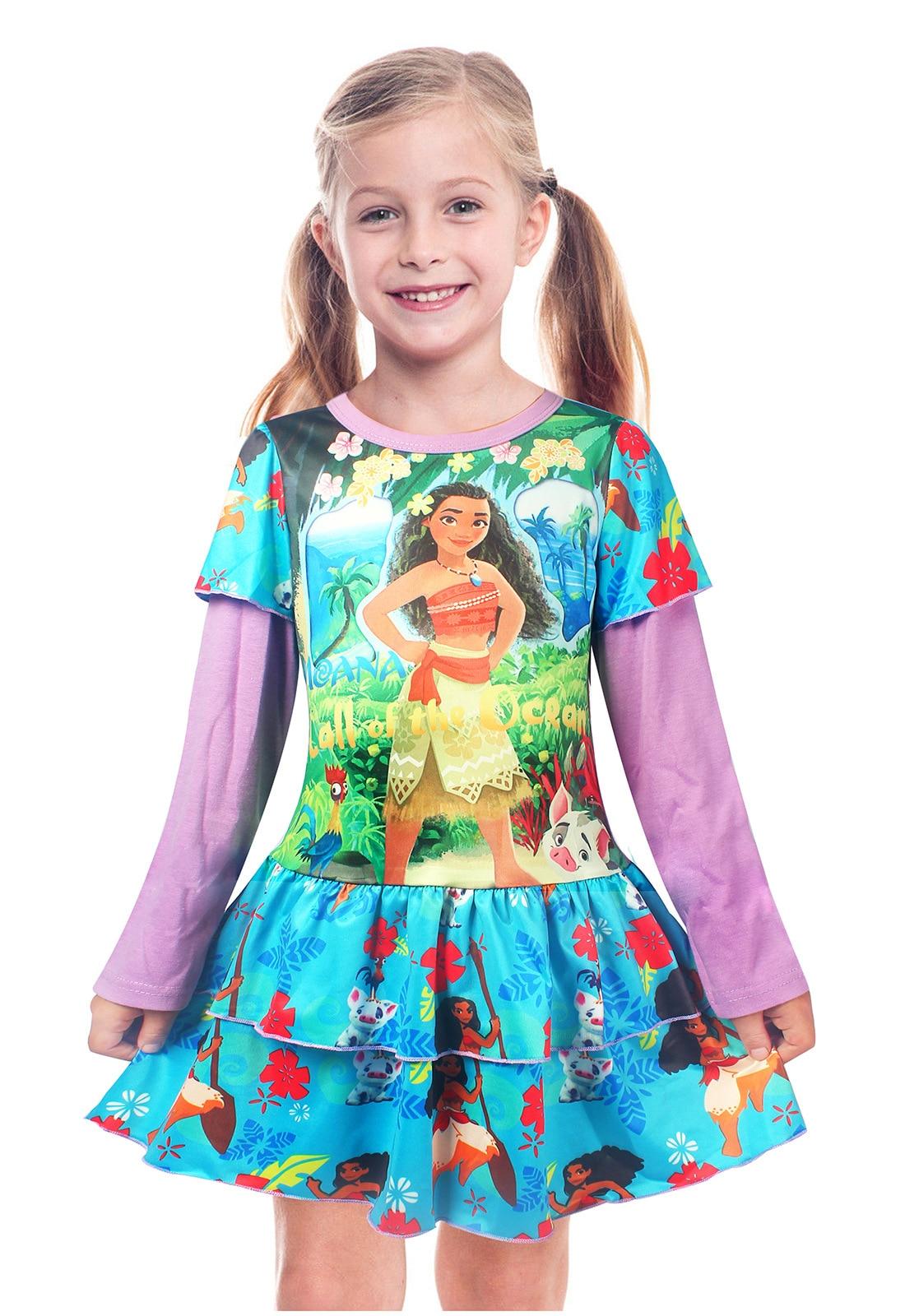 vestido traje niños vaiana de princesa aventura de moana Chica PYndFxqP 6a38047e5ebd