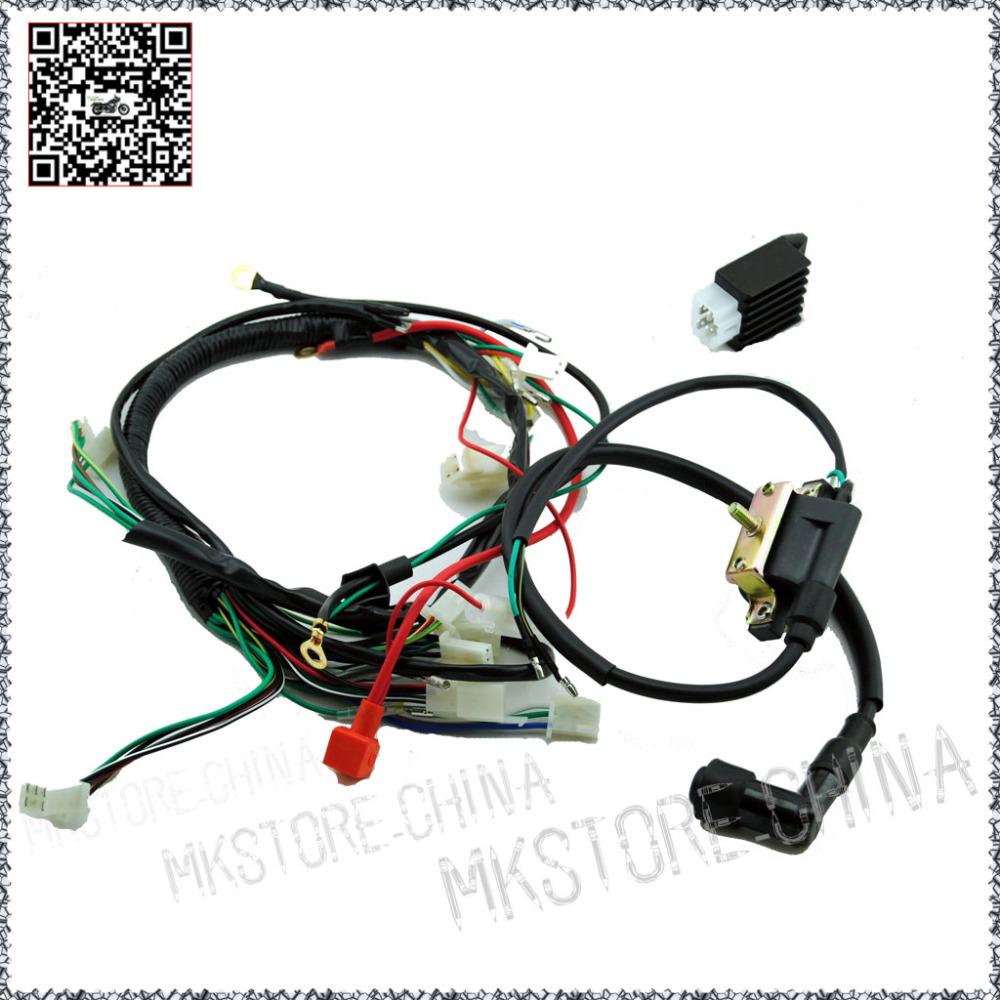 110cc+ RECTIFIER+COIL WITH LEAD QUAD ELECTRICS for Zongshen Lifan Ducar  Razor CDI COIL WIRE HARNESS Free shipping-in ATV Parts & Accessories from  ...