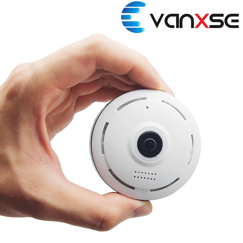 ФОТО Vanxse CCTV 1.3MP 960P IP Camera, Panoramic 360 Degree Indoor Wireless WiFi Surveillance Security Network Camera