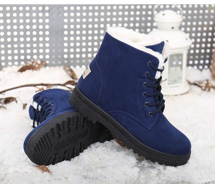 Women's High Heels Plush Winter Boots 16