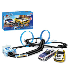 New children's toy track car remote control rail car sonic storm track racing roller coaster speed racing цена и фото