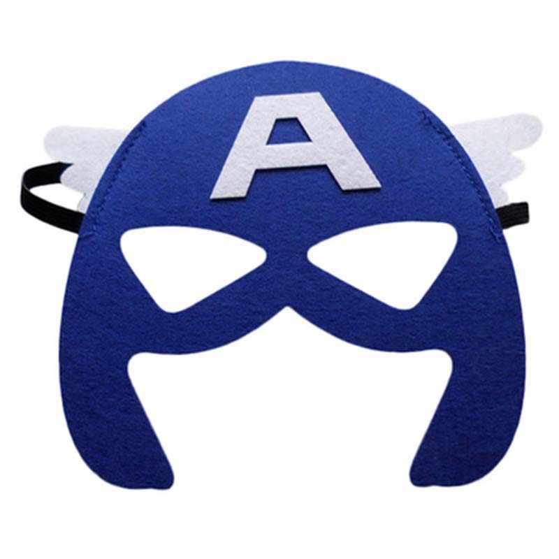 Superbohatera maska Cosplay Superman Batman Spiderman Hulk Thor IronMan księżniczka Halloween boże narodzenie dla dzieci dorosłych stroje imprezowe maski