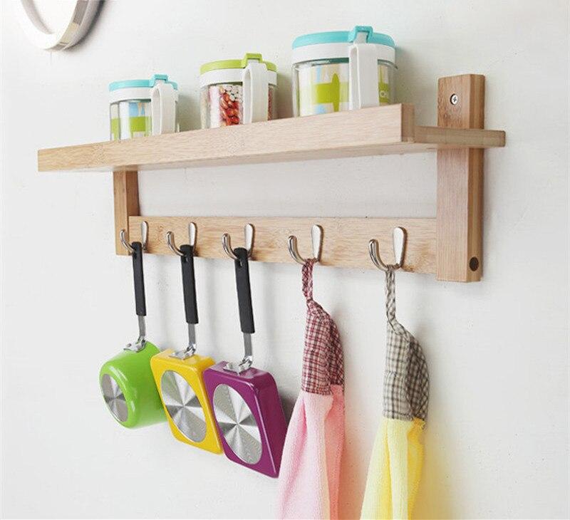 """""""Creative Hanging Hook"""" nekilnojamojo medinės sienos pakabinimo - Organizavimas ir saugojimas namuose - Nuotrauka 3"""