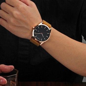 Curren Luxury Calendar Date Leather Waterproof Analog Men Quartz Watches 4