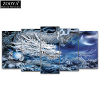 Zhui Star 5d Diy Diamond Embroidery Dragon 5pcs Multi Picture Combination Diamond Painting Cross Stitch Rhinestone