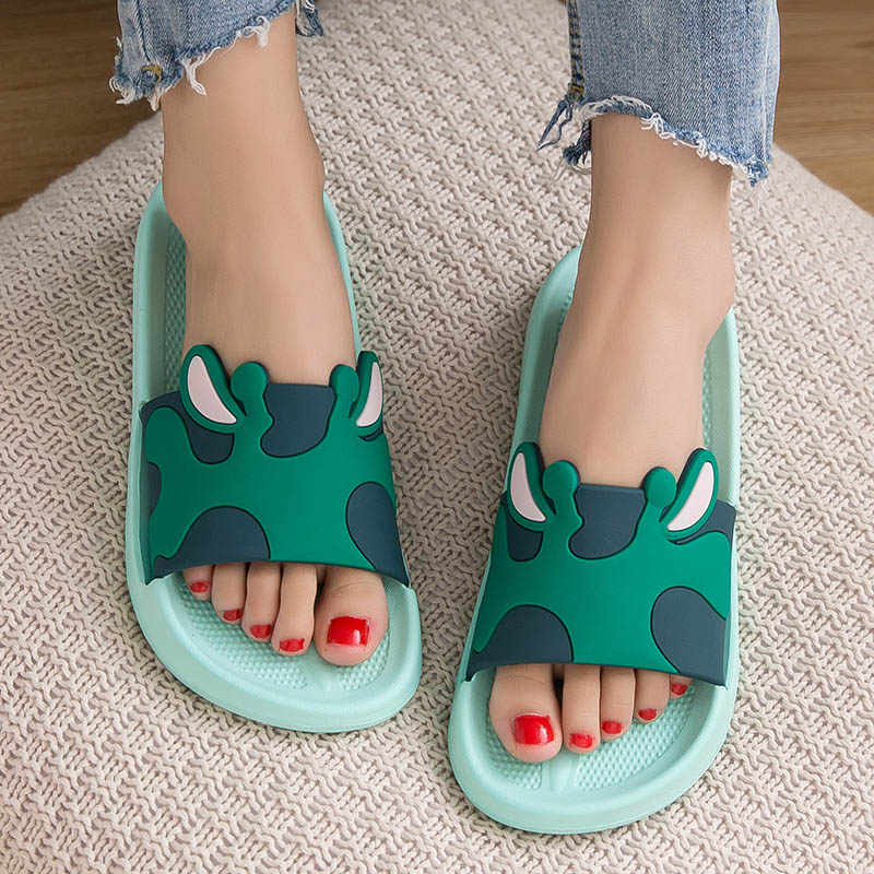 772bfcc092f95 ... Women Slides Home Slippers Female Indoor Ladies Bathroom Shoes Cartoon  Couple Platform #Y0320168Y ...