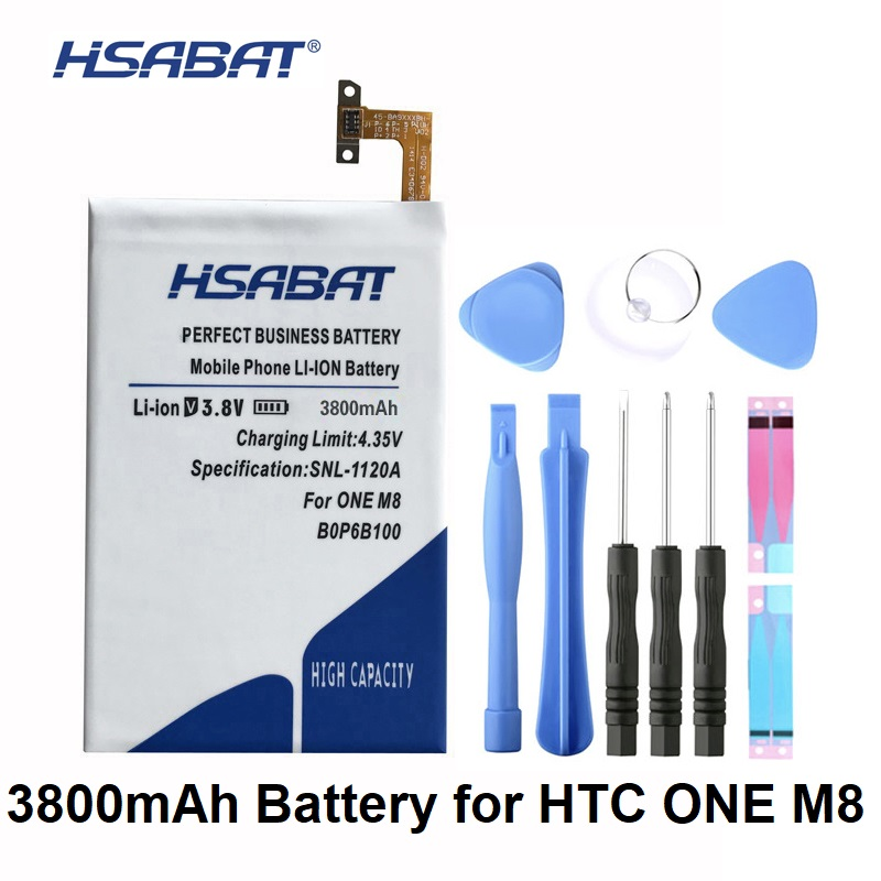 HSABAT Battery For M8X B0P6B100 M8SD HTC E8 Replacement 3800mah M8T M8SW ONE
