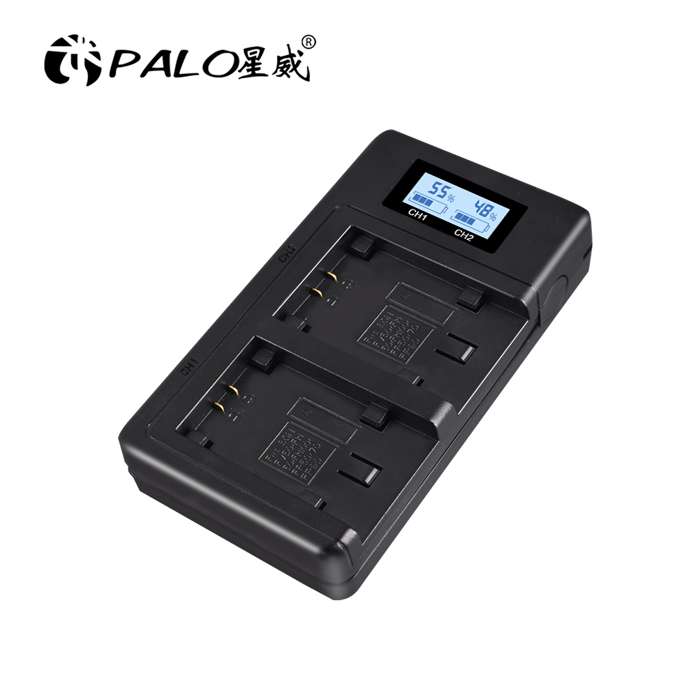 USB Dual Smart Charger LCD Sony NPFV100 NP-FV100 Battery Quick Charge For NP FH50 FH100 FP50 FP90 FV50 FH40 FV100 Camera Battery image