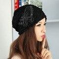 Novo popular da menina das mulheres de luxo da marca gorros outono inverno skullies gorros chapéus para mulher custom design borboleta sequin térmica