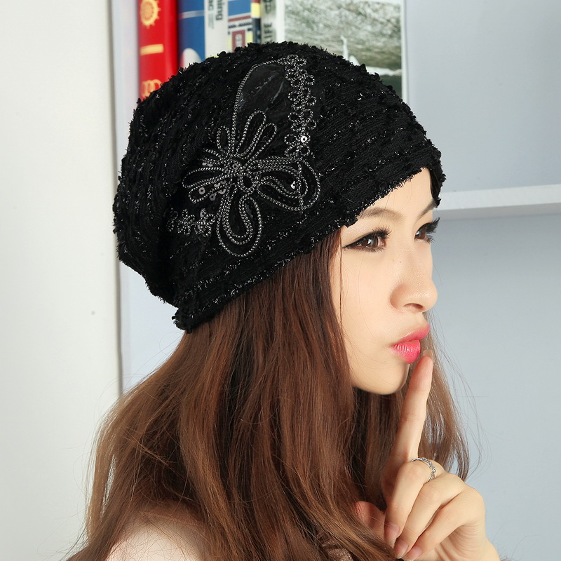new popular women girl luxury brand beanies autumn winter hats for woman  custom design sequin butterfly thermal skullies gorros brand kenmont new summer hats for women 100