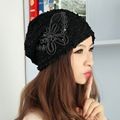 new popular women girl luxury brand beanies autumn winter hats for woman  custom design sequin butterfly thermal skullies gorros