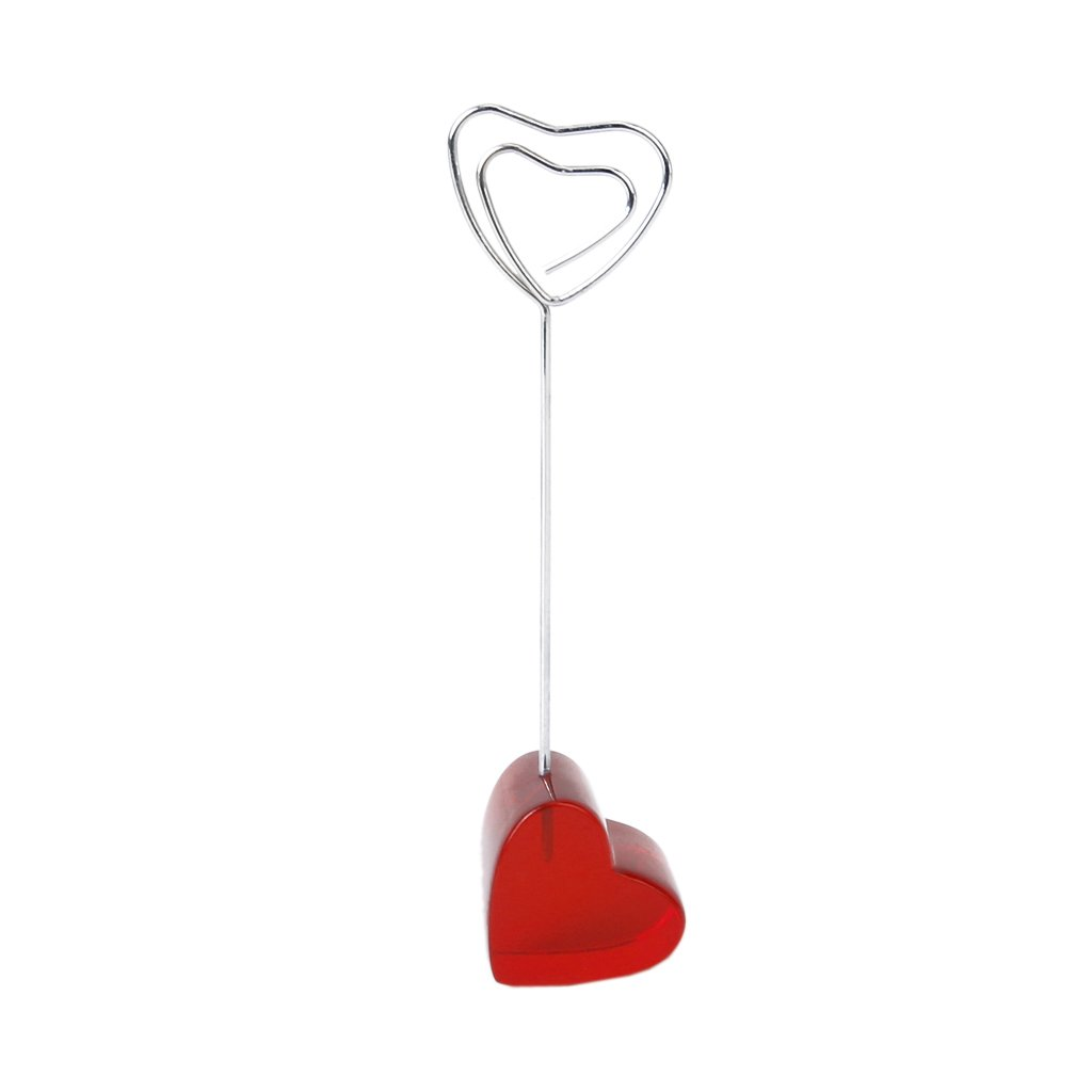 Diaphanous Red Love Heart Basemap Image Memo Holder Photo Clip Holder Heart Shape Wire Hanger