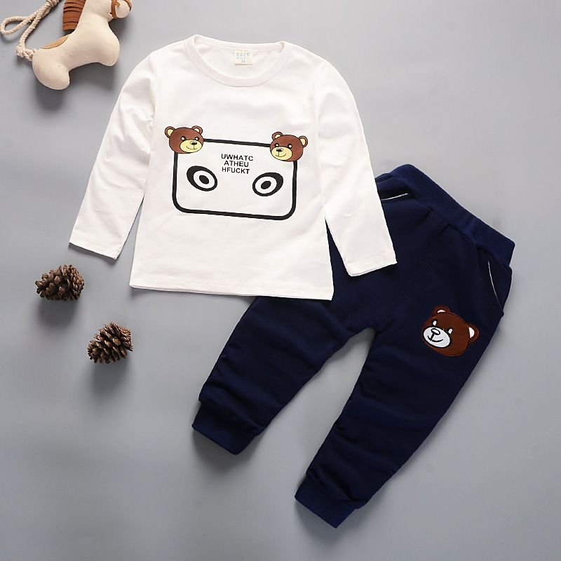 Newborn Kids Clothes Baby Boy Fashion Clothing Set 3PCS Tracksuit Autumn Spring Costume Toddler Children Outfits 1 2 3 4 Years 4