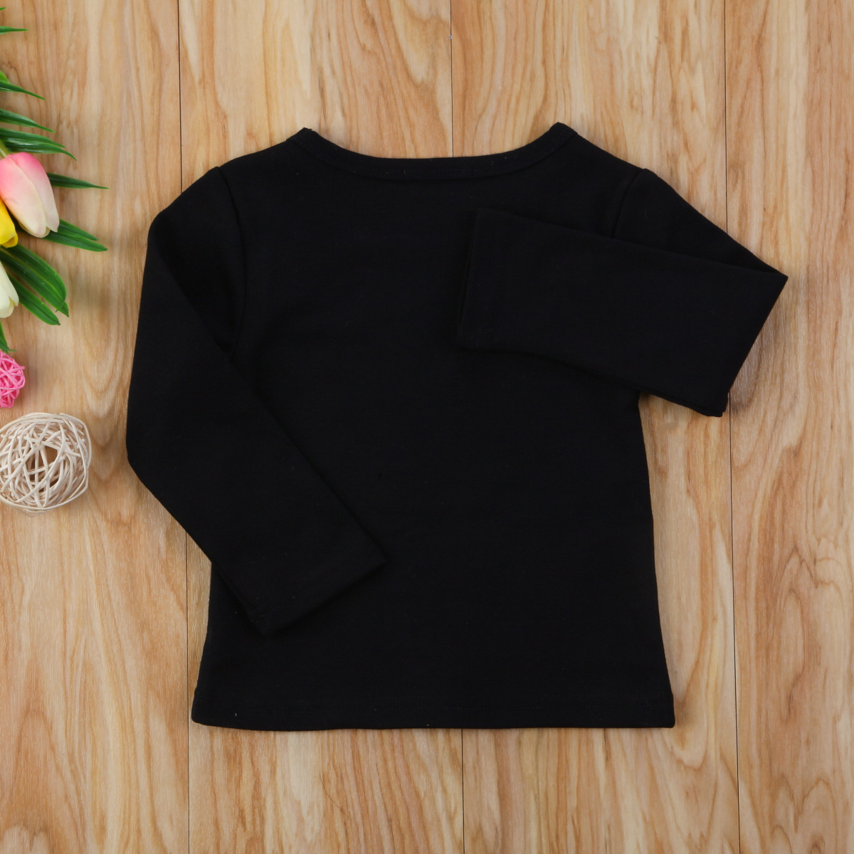 Autumn Cotton Newborn Infant Kids Baby Boys Girls Clothes Solid Cotton Soft Clothing Long Sleeves T-shirt Tops 10