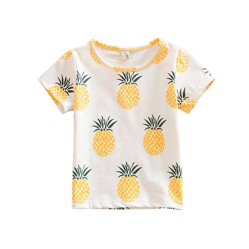 Girls' Clothing Fashion Baby Children Girls Kids T Shirt Cotton Pineapple Print One-pieces Casual Dress T-shirt Kids Clothes S72 Easy To Lubricate Back To Search Resultsmother & Kids
